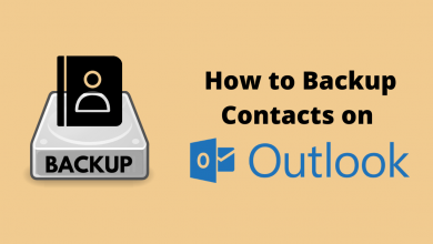 Backup Contacts from Outlook