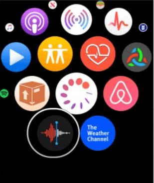 recording audio on apple watch