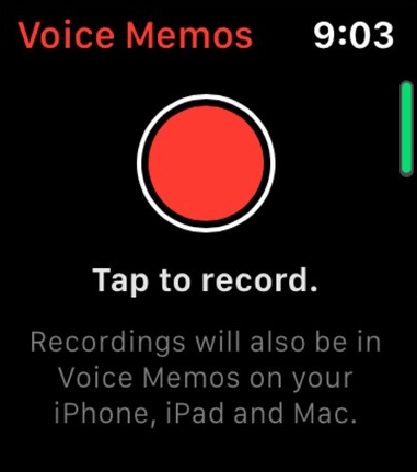 how to use voice memo on Apple watch