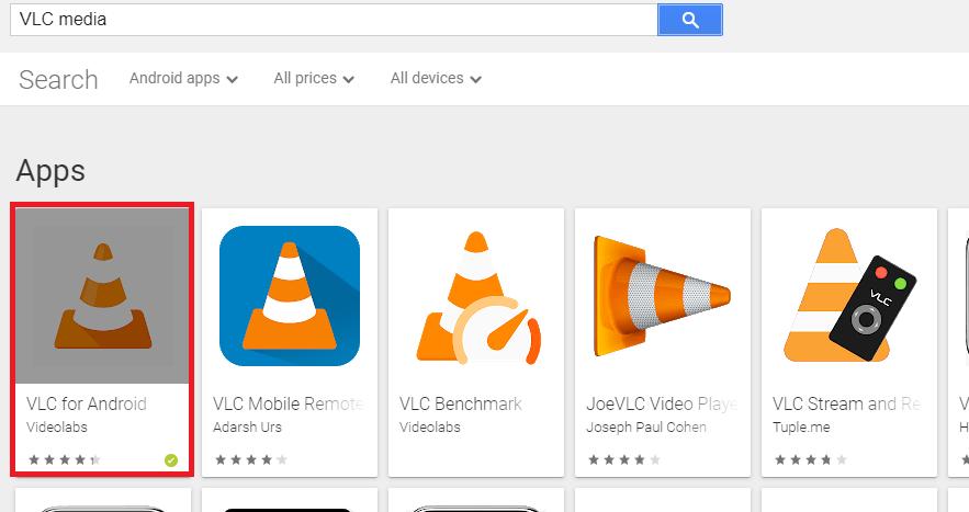 Choose VLC Media Player