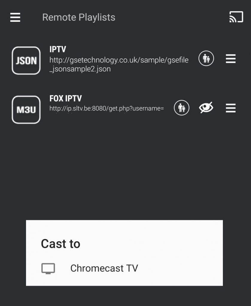 Chromecast GSE Smart IPTV App