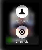 Contact and Channels - Zello on Apple Watch