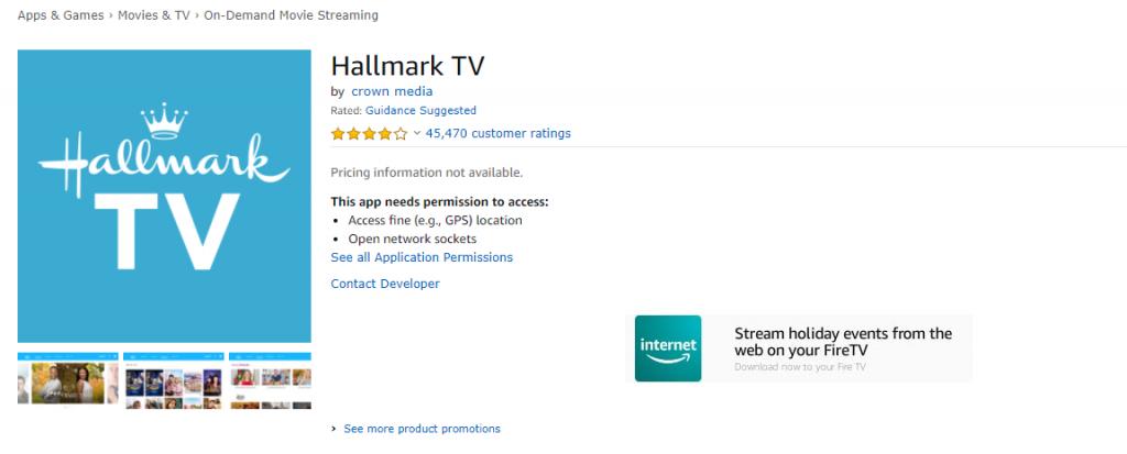 Hallmark Channel on Amazon App Store