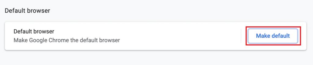 Set Google Chrome As default browser on Mac