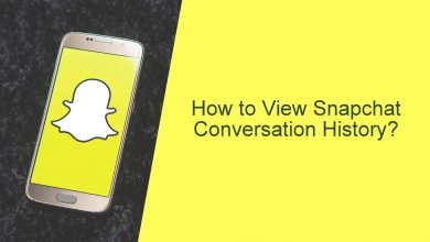 How to view snapchat conversation history