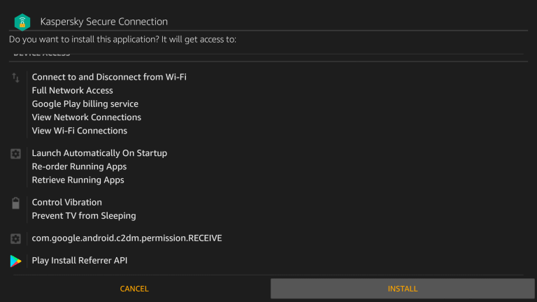Install Kaspersky VPN on Firestick