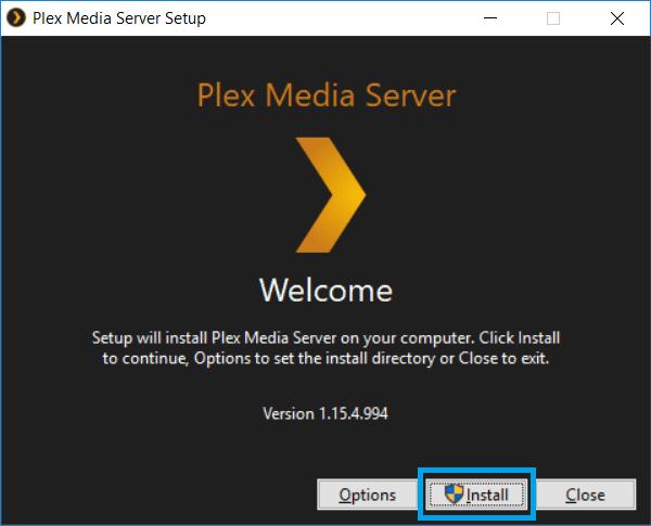 Install Plex Media Server