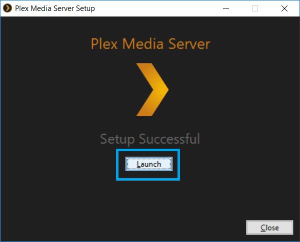 Set up Plex Server