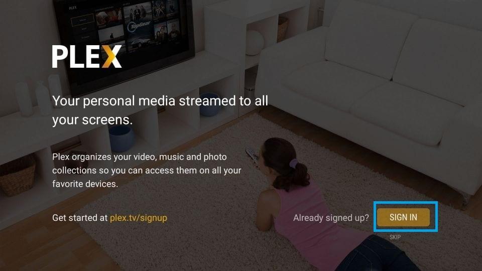 Sign in Plex on Chromecast With Google TV