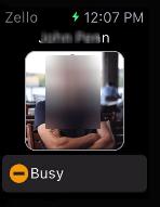 Status Update - Zello on Apple Watch