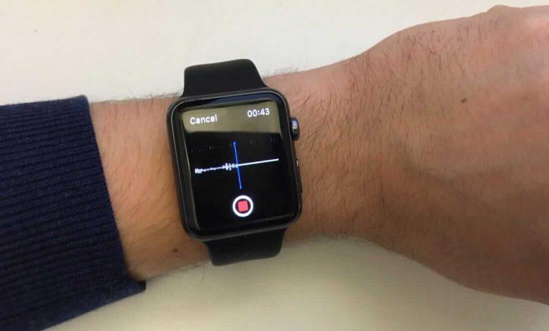 Voice Memos on Apple Watch