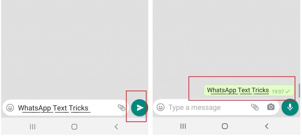 WhatsApp Text Tricks - Underlined Text