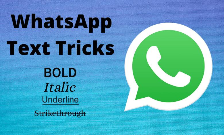 WhatsApp Text Tricks