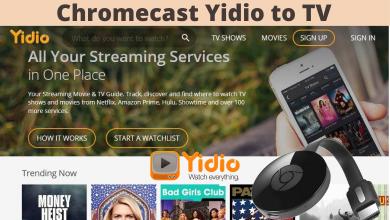 Chromecast Yidio to TV