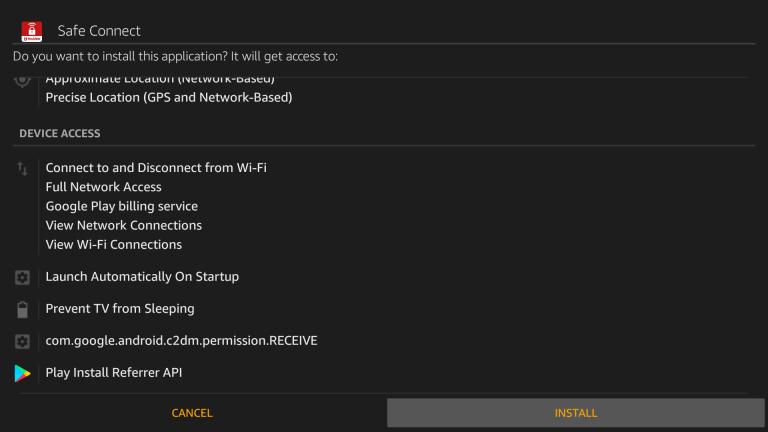 Install McAfee VPN on Firestick