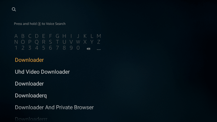 Type Downloader and Search for it