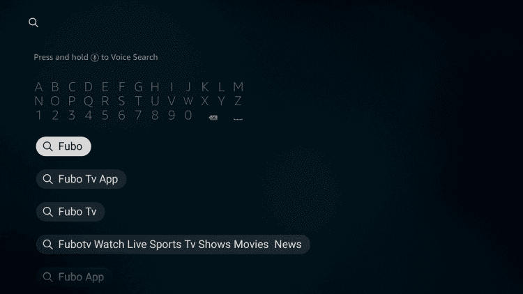 Search for fuboTV