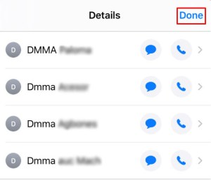 Select the contacts