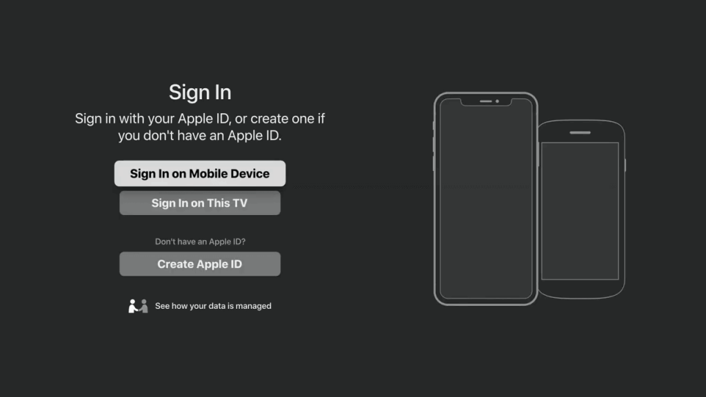 Sign in to Apple TV