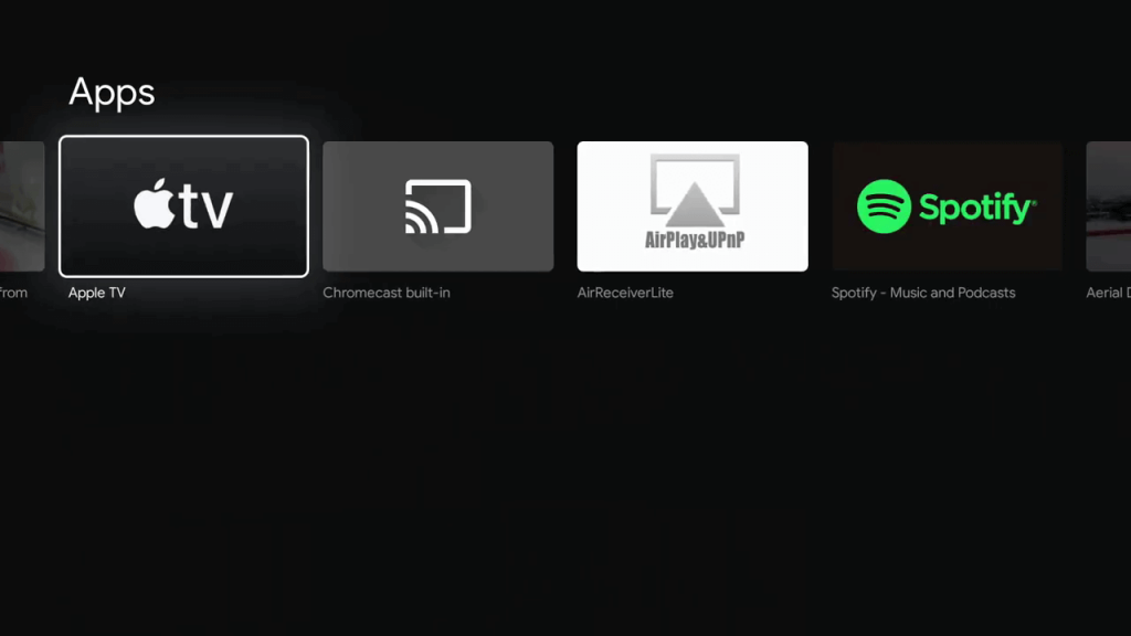 Select the Apple TV app
