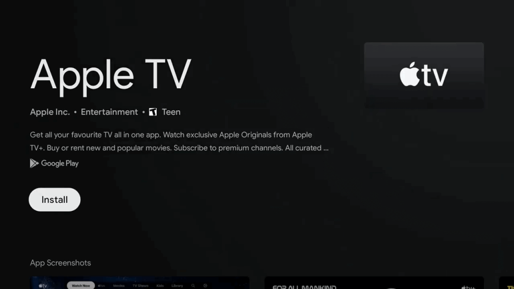 Install Apple TV