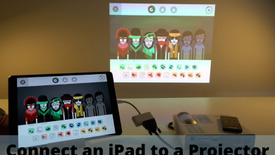 Connect an iPad to a Projector