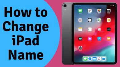 How to Change iPad Name