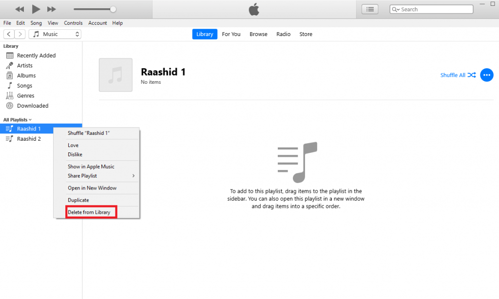 Delete Playlists on iPhone Using iTunes