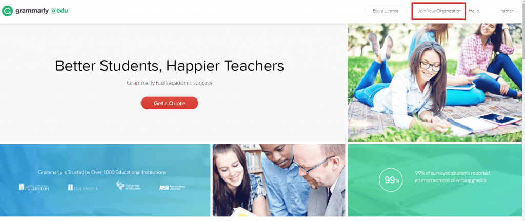 Grammarly education free trial