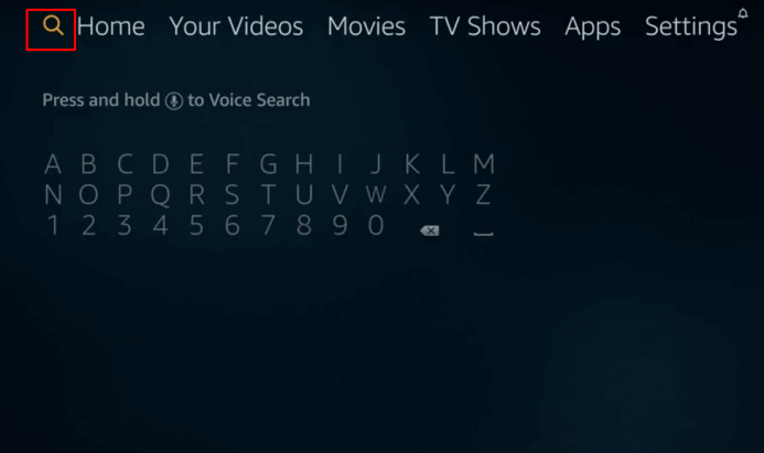 Select the Search icon
