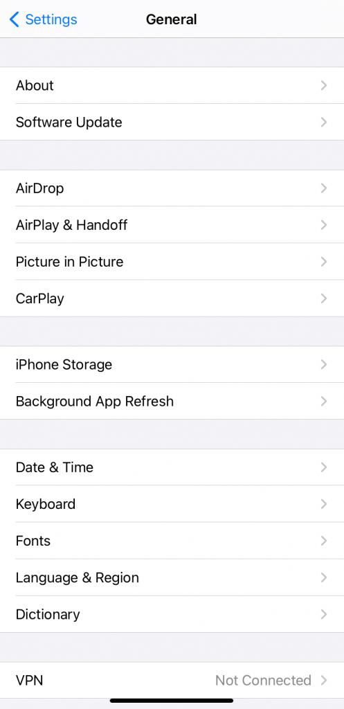 Tap Software Update - Change Siri voice in iOS 14.5