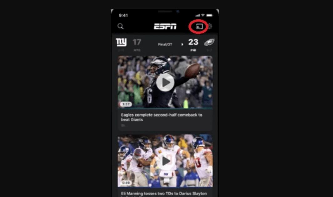 Chromecast ESPN