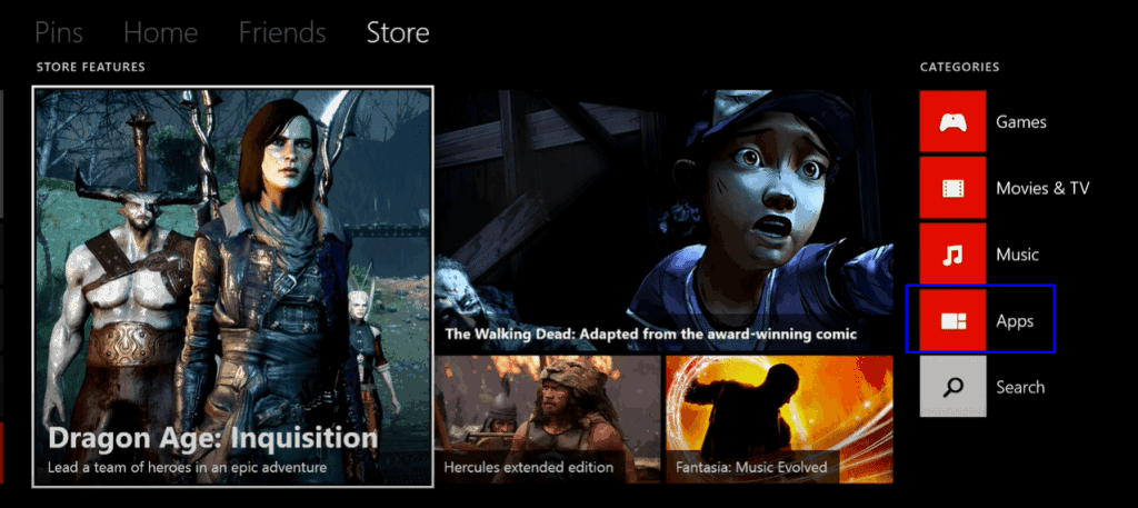 Funimation on Xbox- click apps
