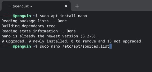 Nano editor command