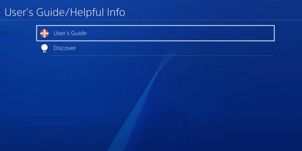 Select User's Guide- Jailbreak PS4