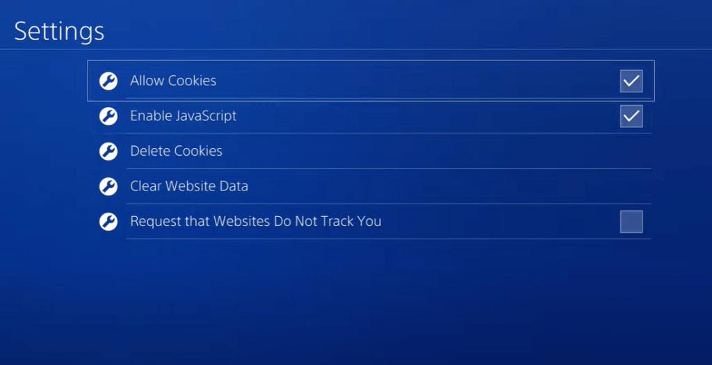 Click Delete Cookies - Jailbreak PS4