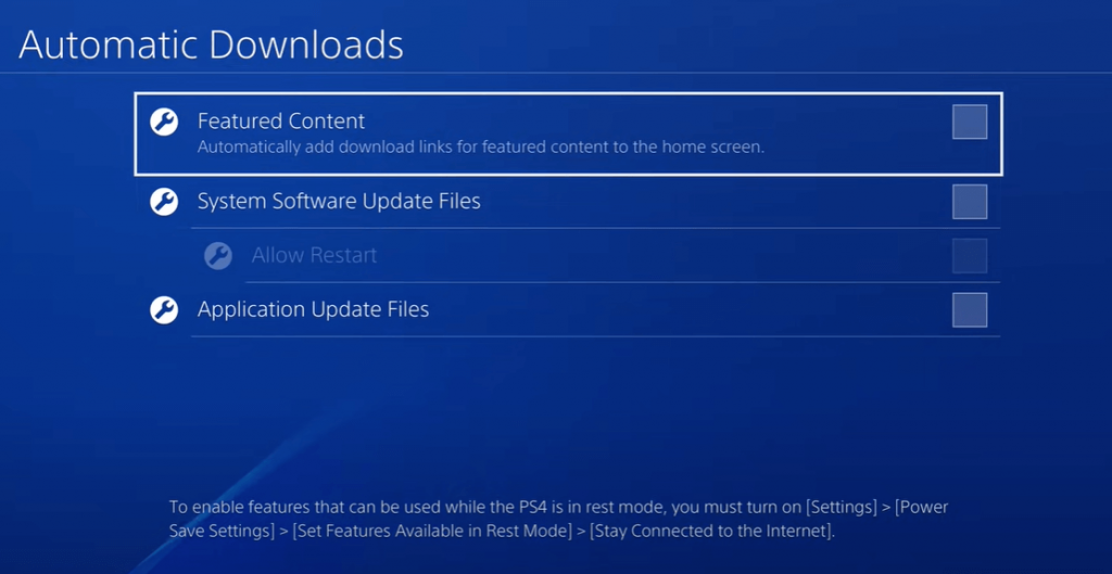 uncheck the automatic downloads - jailbreak PS4
