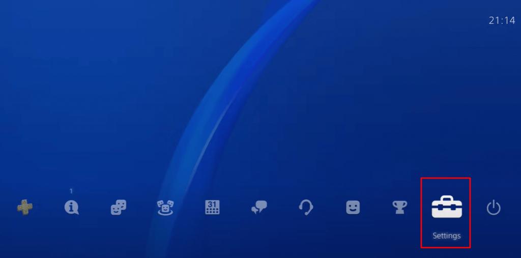 Select Settings to jailbreak PS4