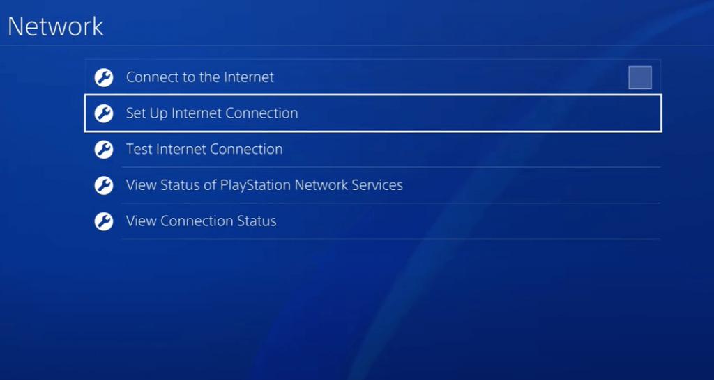 Select Set up Internet connection