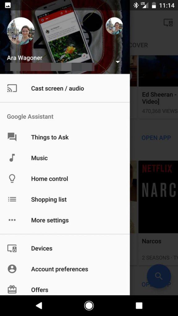 select Cast screen/audio