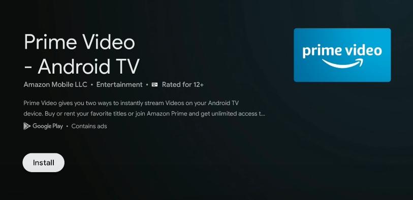 Install Prime Video on Google TV