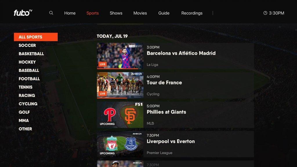 fuboTV on Xbox One