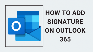 add signature on Outlook 365