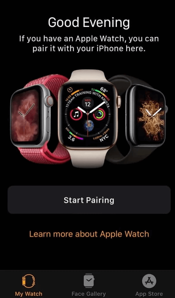 pair your Apple Watch with iPhone