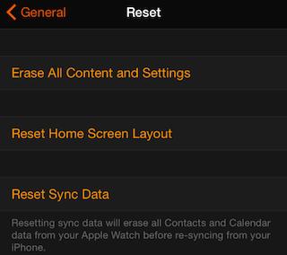 Reset Sync Data