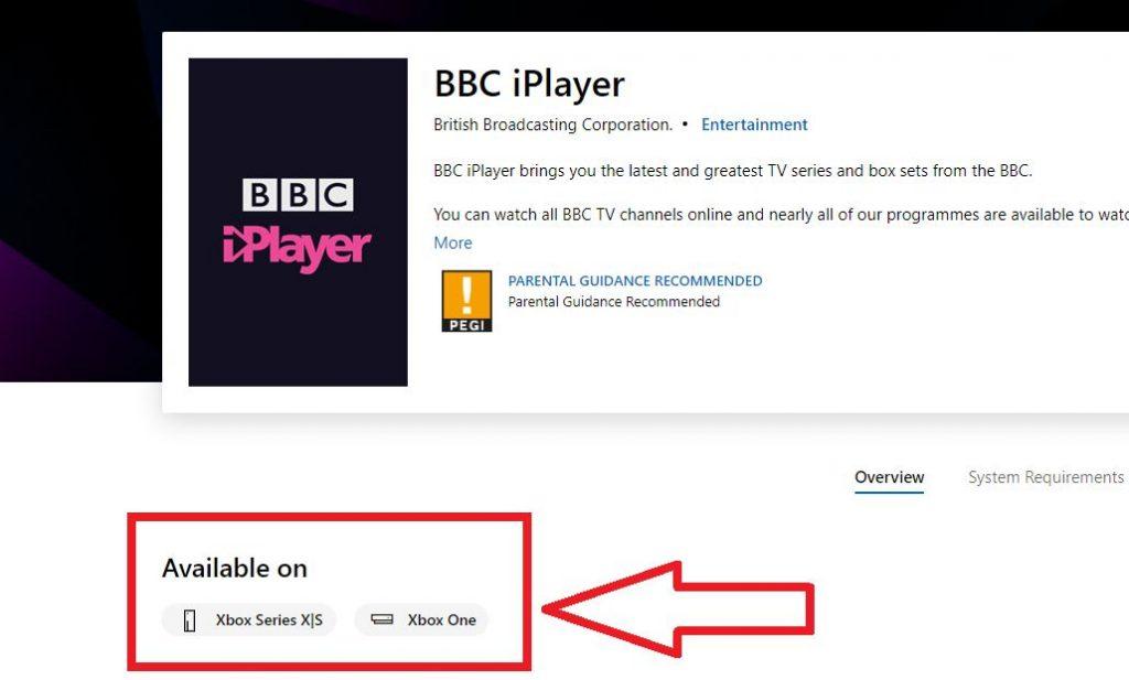 BBC iPlayer on Microsoft Store