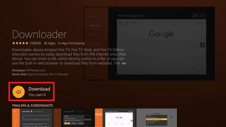click download - CCleaner for Firestick