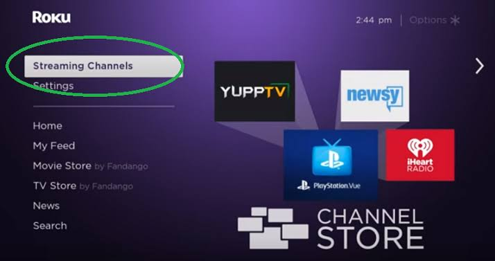 Comedy Central on Roku- click streaming channel