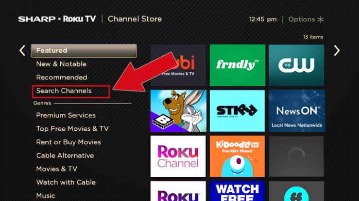 Comedy Central on Roku- click search channels