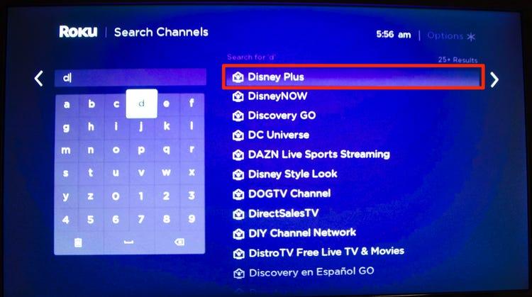 Disney Plus on JVC Roku TV